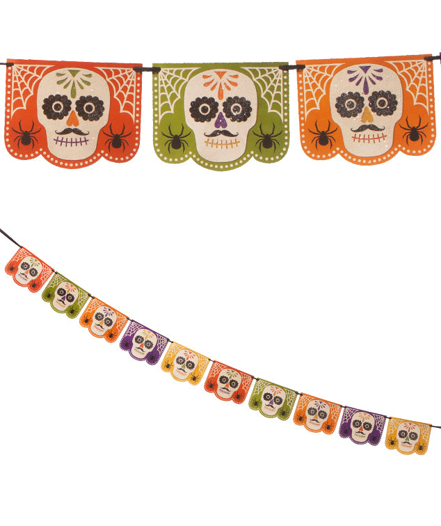 Sugar Skull Garland - Day of the Dead Theme Party