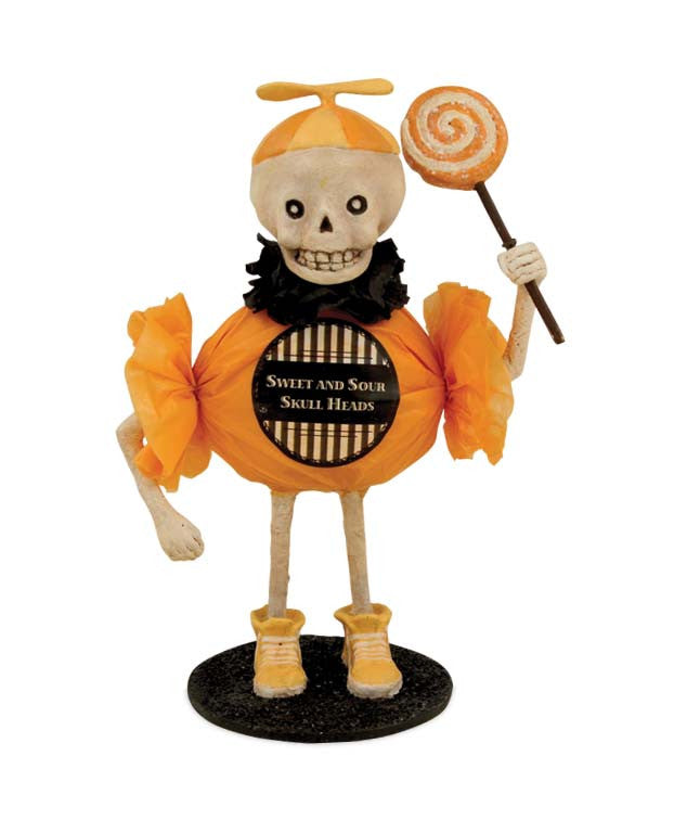 Sweet And Sour Skullie Candy Figurine by Bethany Lowe