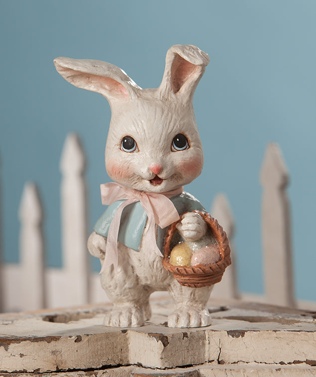 Sweet Bunny with Basket by Bethany Lowe
