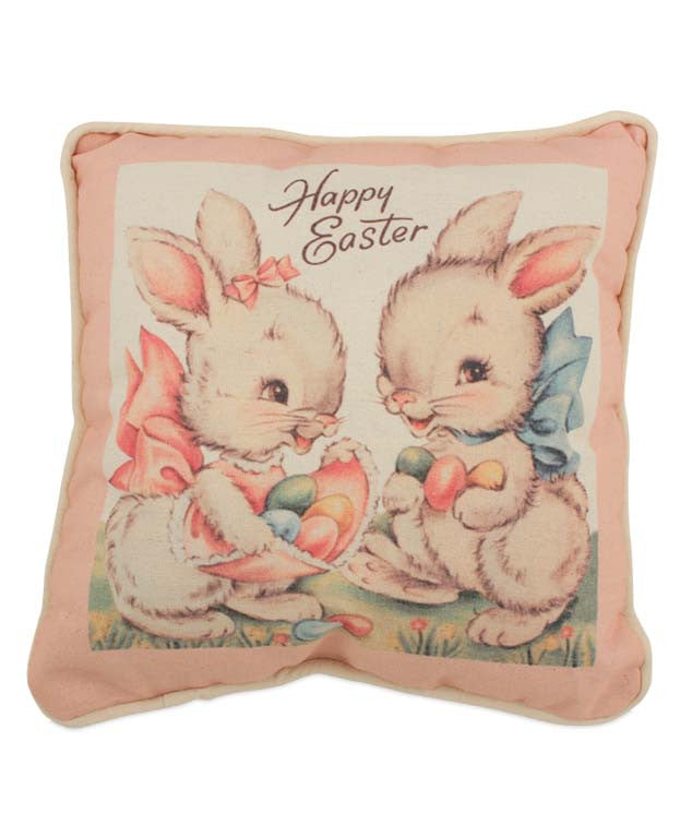 Sweet Easter Bunnies Pillow by Bethany Lowe