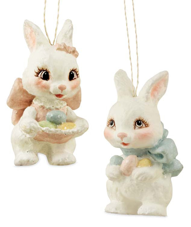 Sweet Easter Bunny Ornaments by Bethany Lowe
