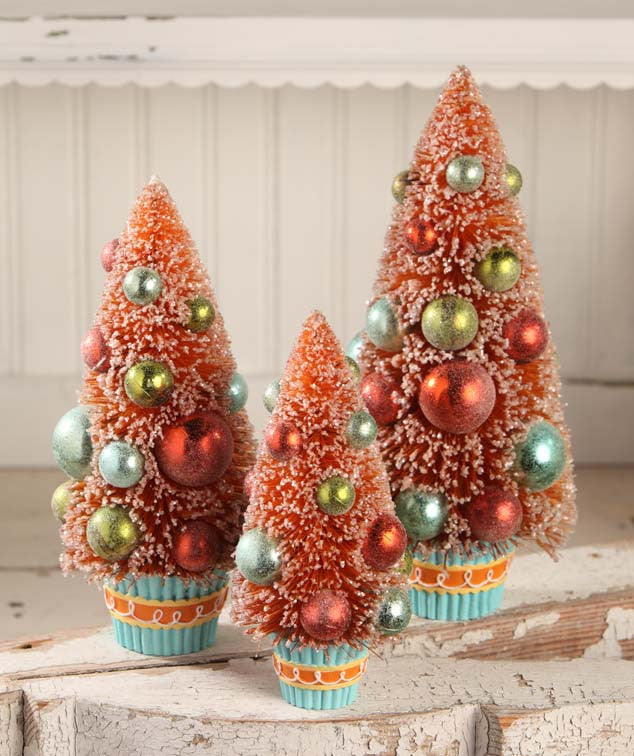 Sweet Treats Bottle Brush Trees in Cupcake Bases