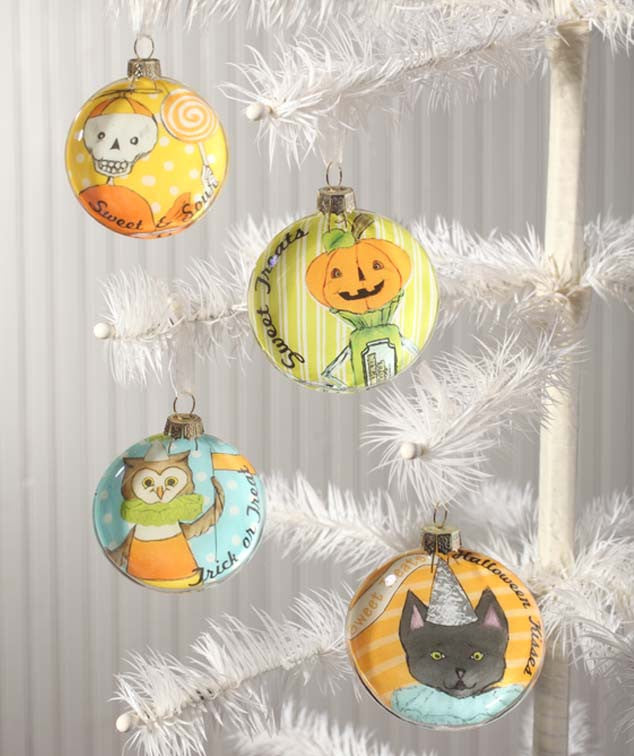 Sweet Treats Glass Disc Ornaments