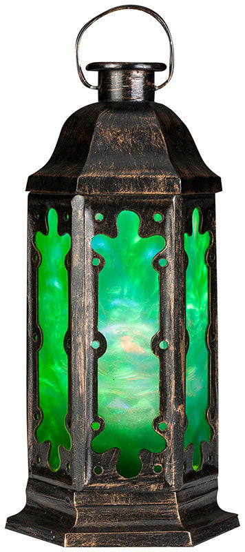 Swirling Green Lantern - Battery Operated Fire & Ice Light