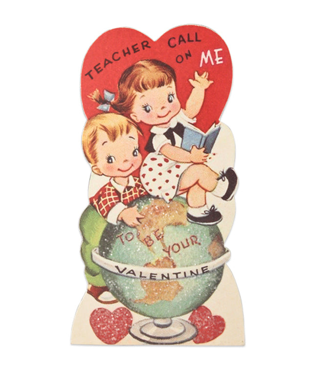 Teacher Call on Me Valentine Dummy Board