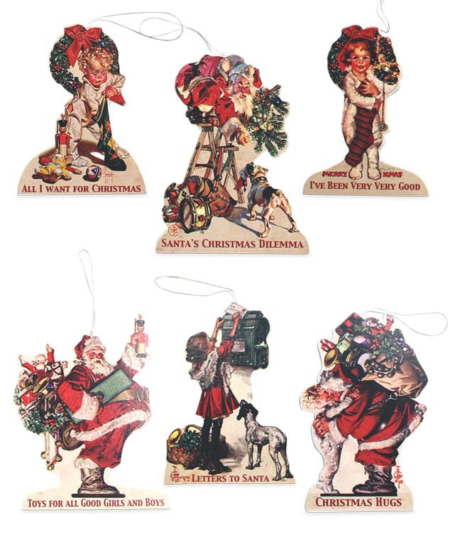 The Night Before Christmas Dummy Board Ornaments