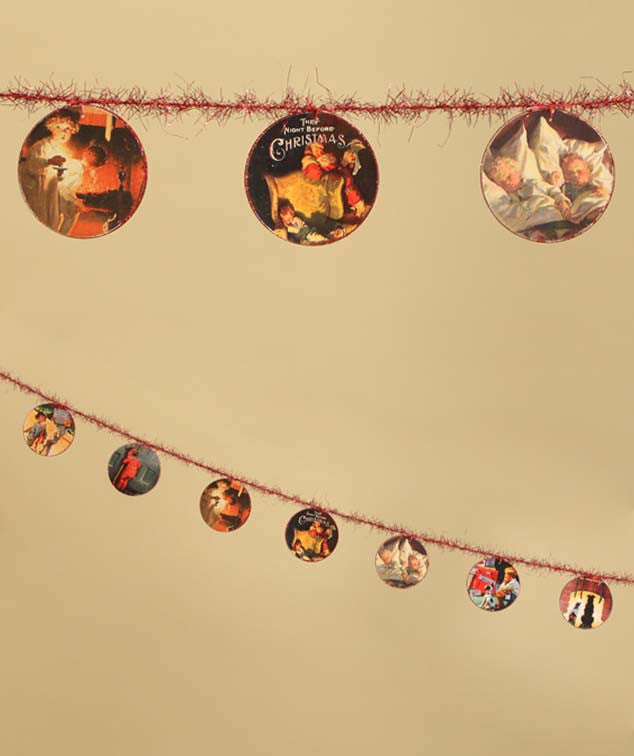 The Night Before Christmas Disc Garland