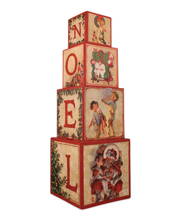 The Night Before Christmas Nesting Blocks - Norman Rockwell