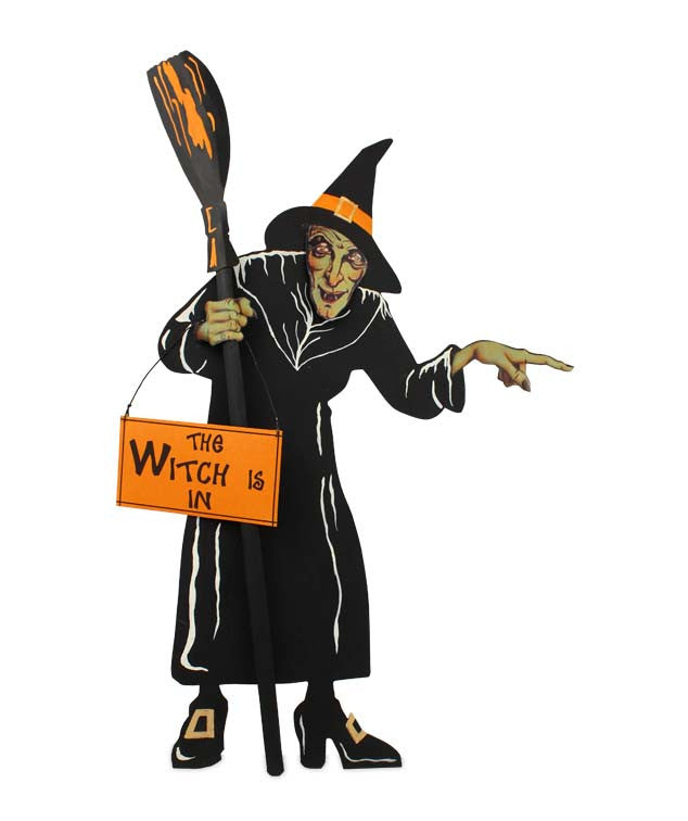 The Witch is In Tin Sign - Mount on Wall or Table