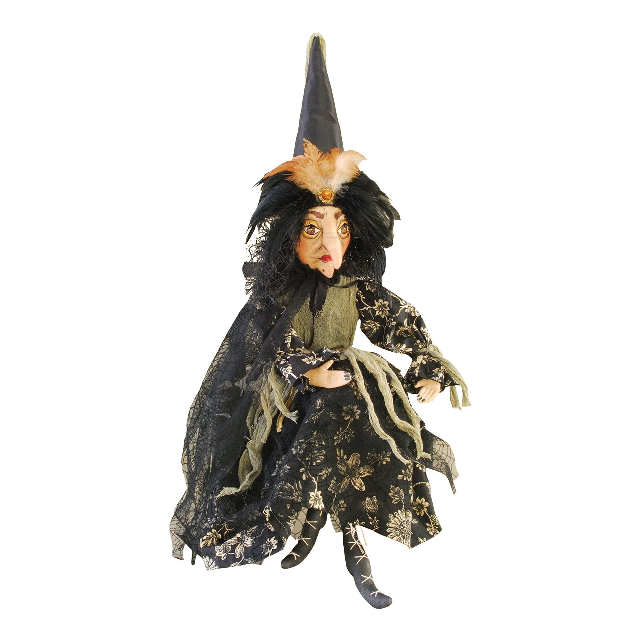 Thelma Witch Cloth Doll by Joe Spencer