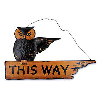This Way Owl Sign