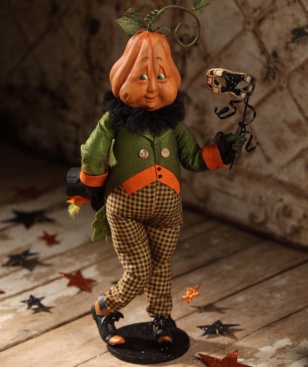 Timmy The Timid Pumpkin Head Figurine by Bethany Lowe