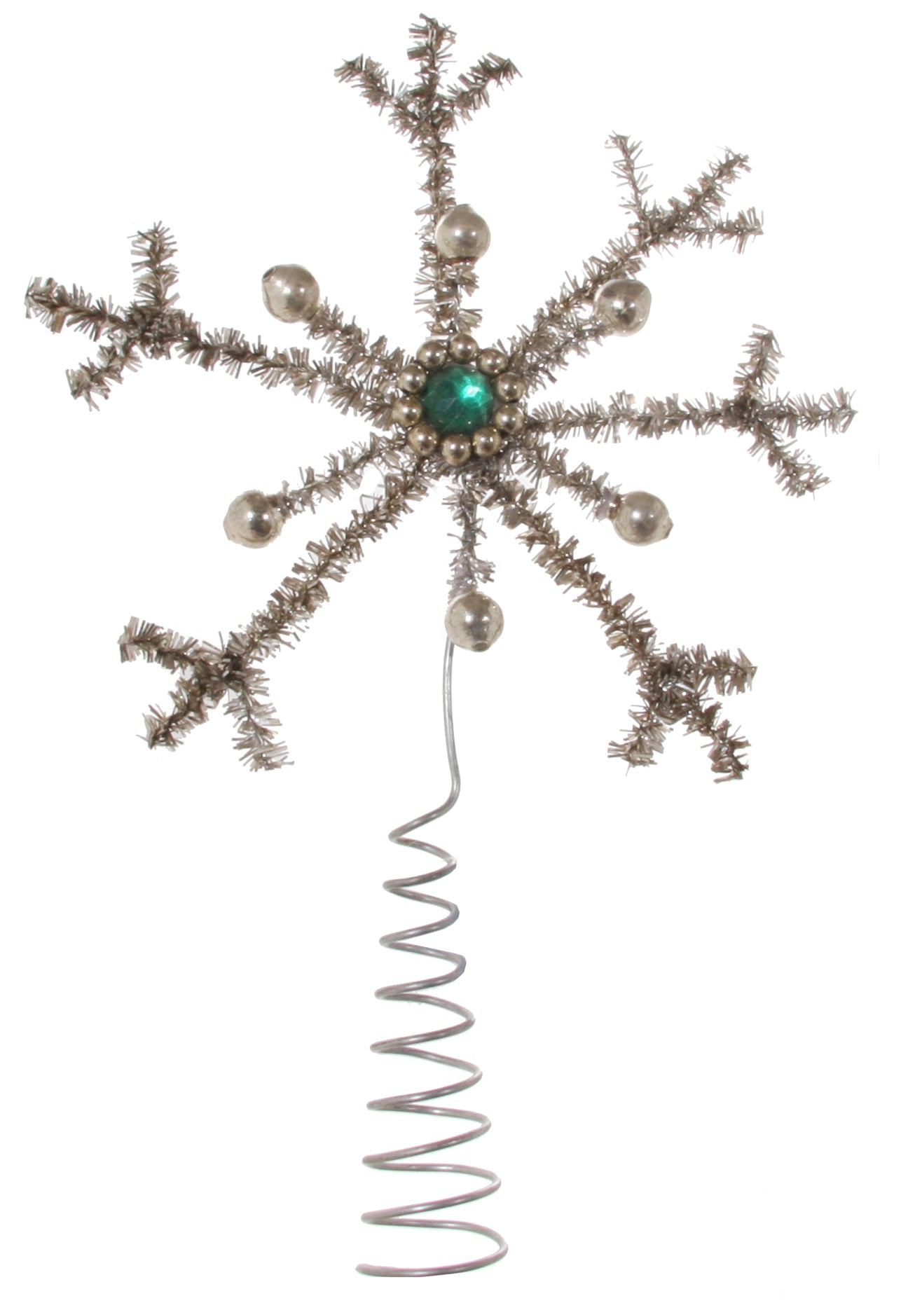 Tinsel Snowflake Tree Topper
