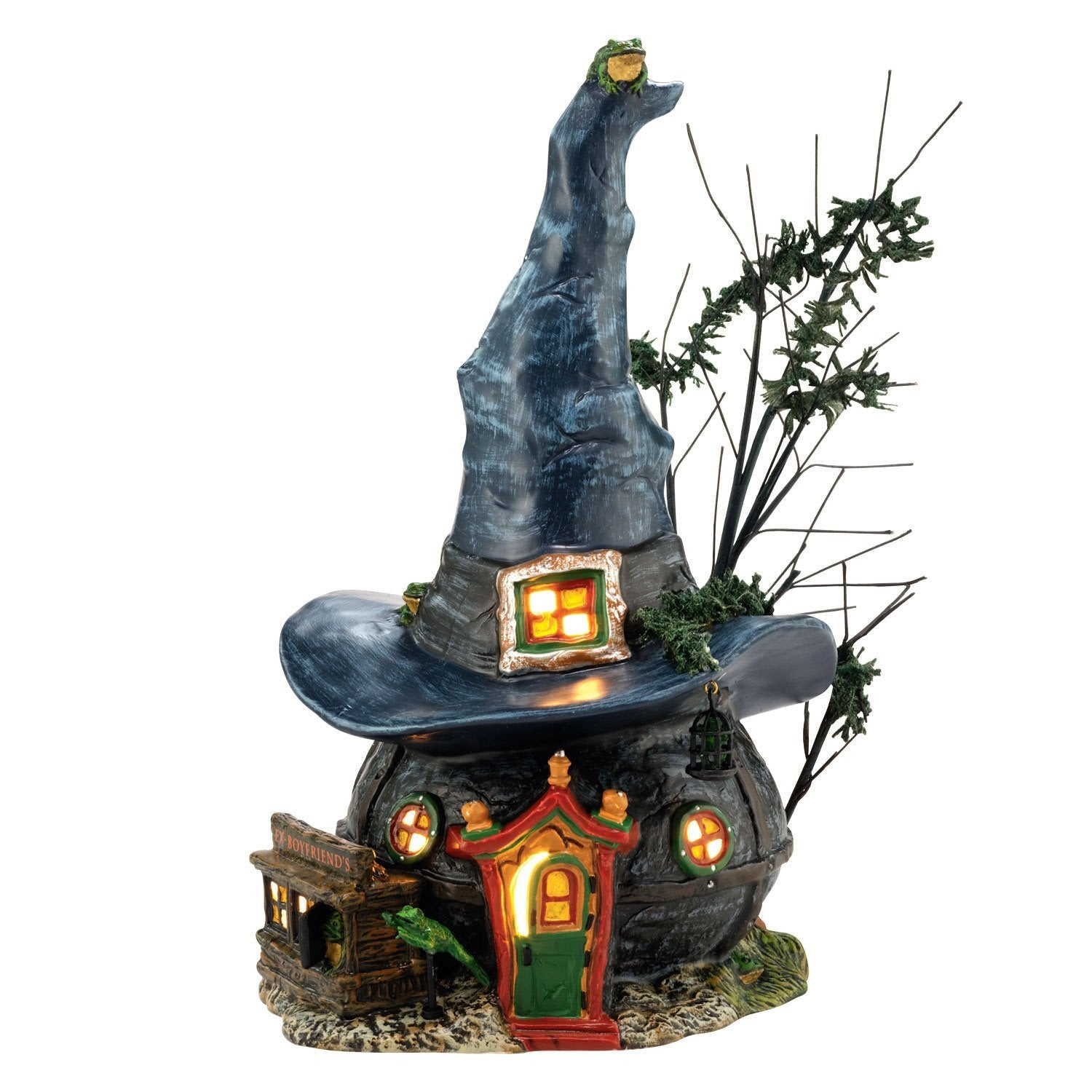 Toad & Frogs Witchcraft Haunt Witch Hat Shaped House
