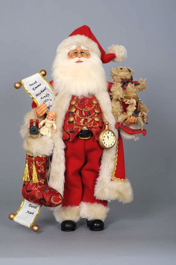 Karen Didion Toy Stocking Santa Claus