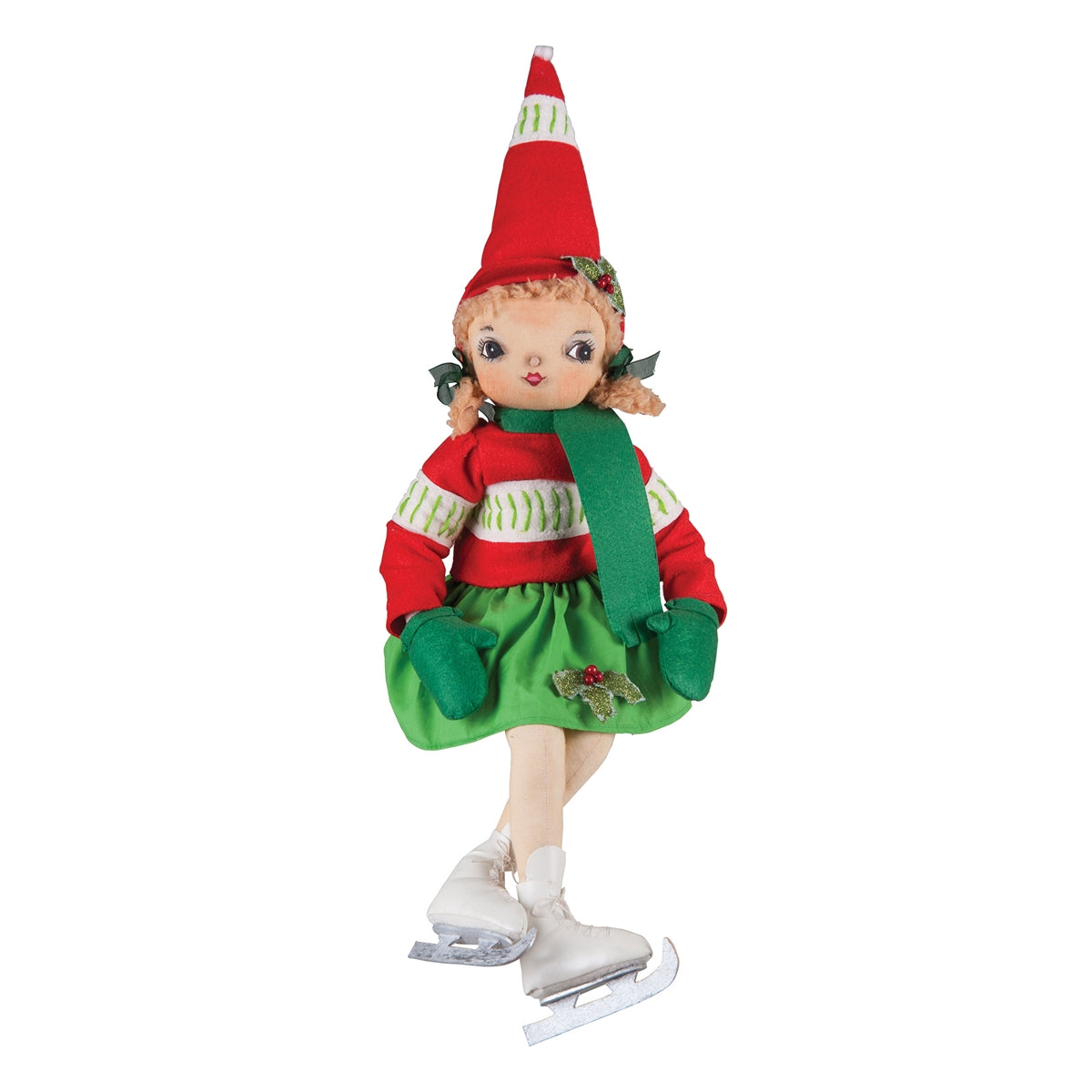 Tracy Ice Skating Christmas Girl Doll by Joe Spencer