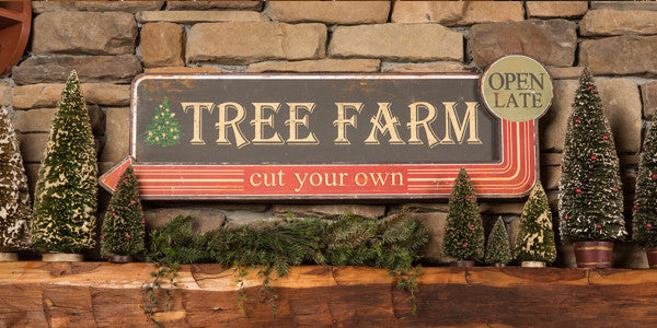 Vintage Christmas Tree Farm Sign - Cut Your Own