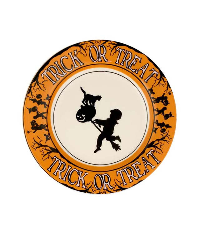 Trick Or Treat Salad Plates - Halloween Party Appetizer Plate