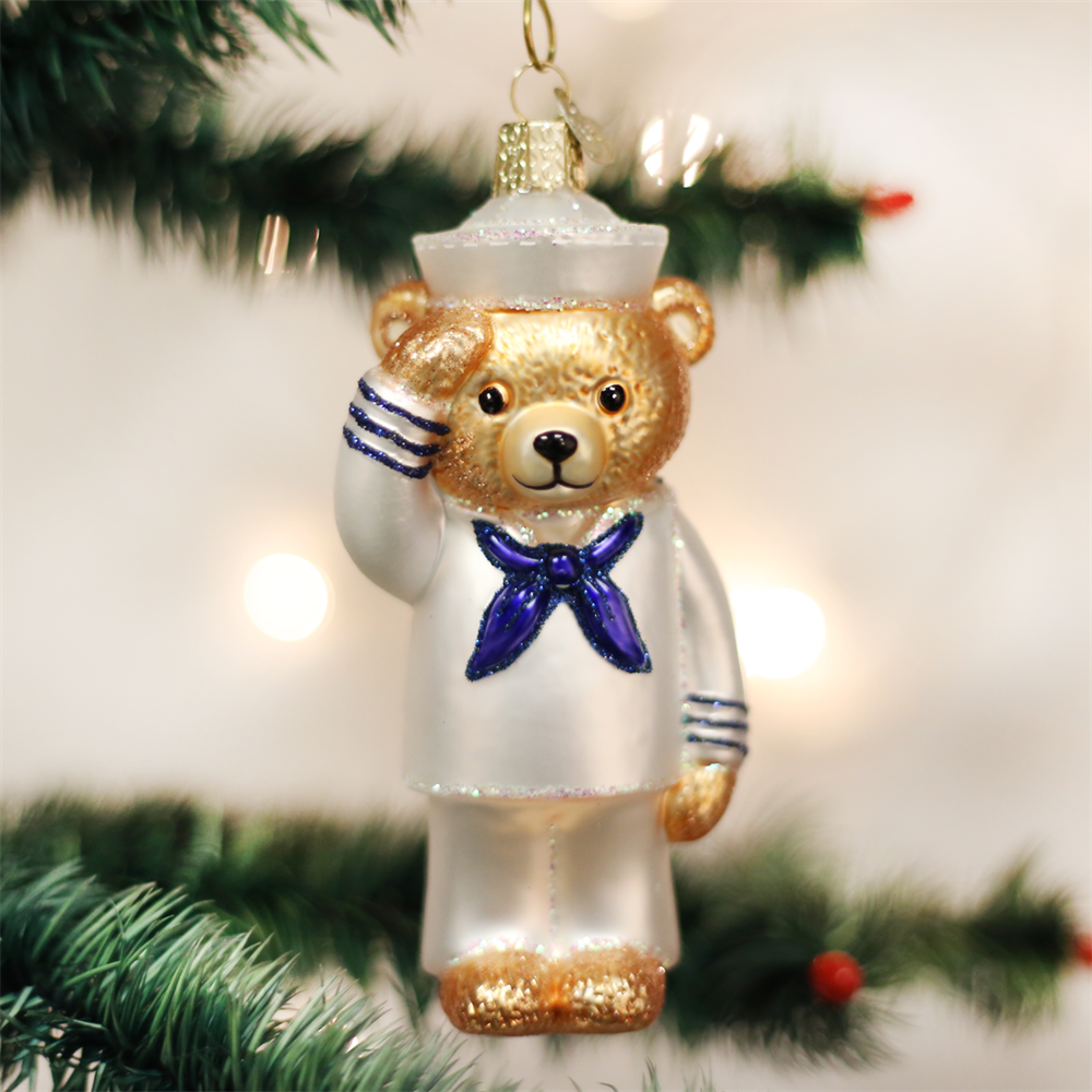 us navy bear ornament by old world christmas