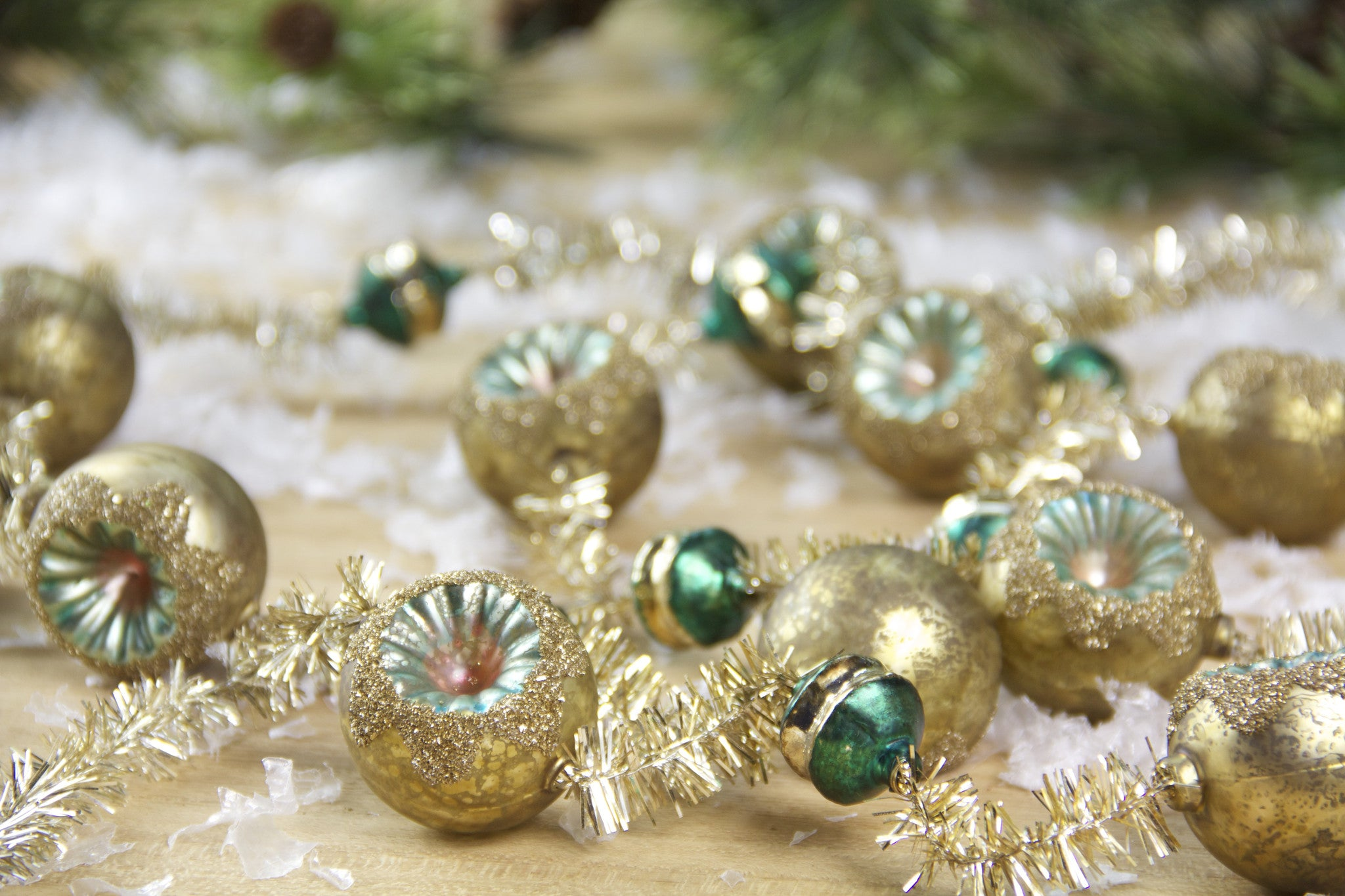 Vintage Glass & Tinsel Reflector Garland