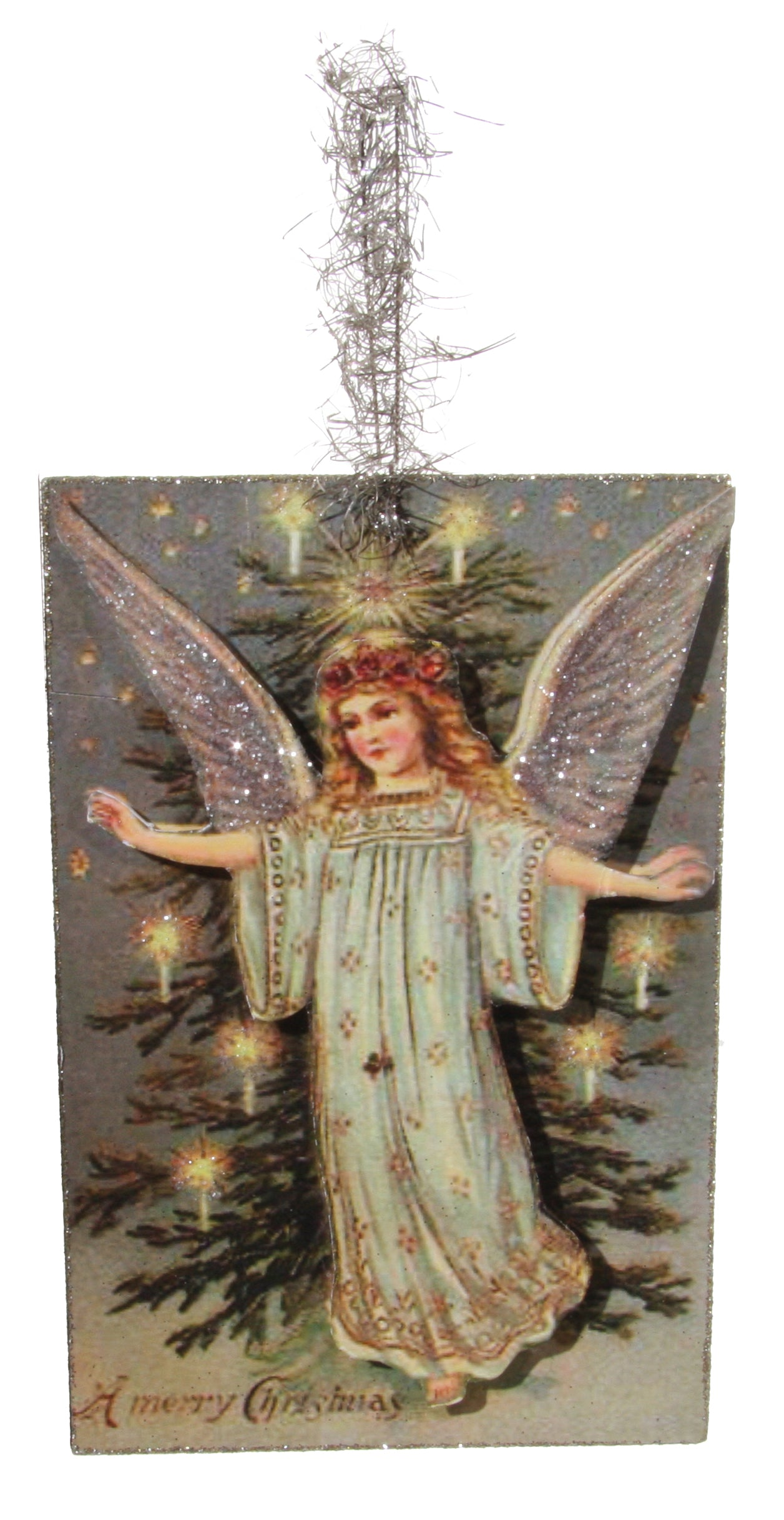 Vintage Christmas Angel Postcard Ornament | Vintage ...