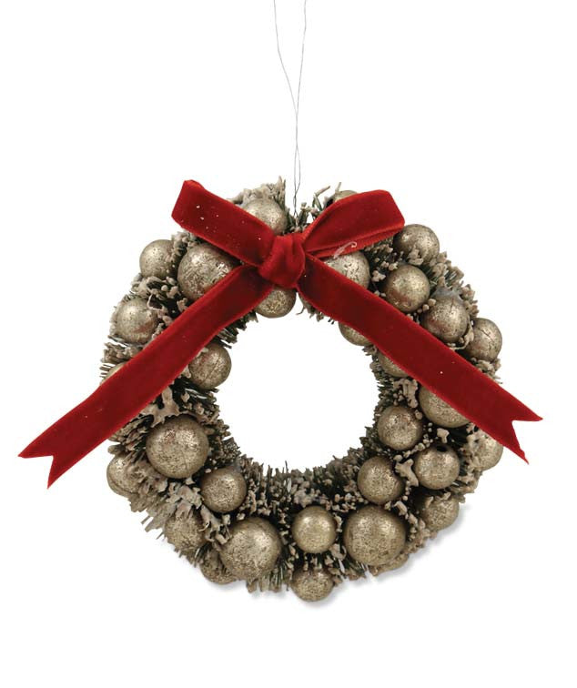 Vintage Christmas Wreath Ornament | Bethany Lowe ...