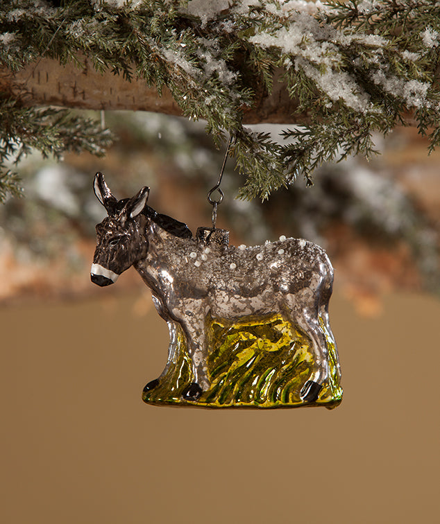 Vintage Donkey Ornament by Bethany Lowe