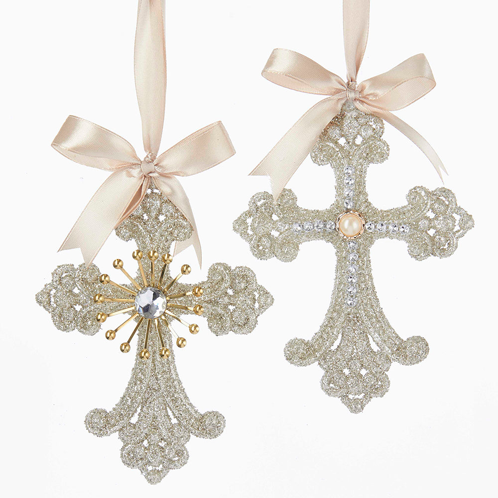 Vintage Glamour Cross Ornaments