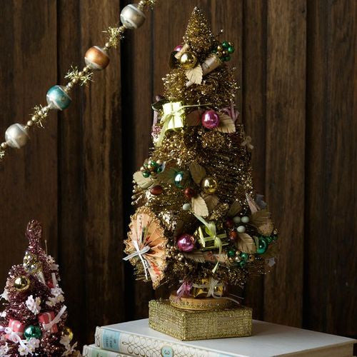 Vintage Gold Embellished Christmas Tree