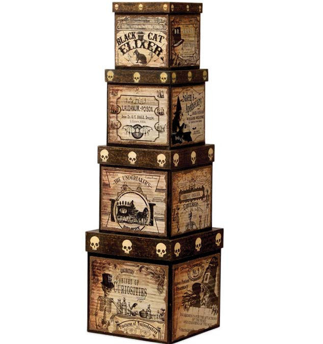 Bethany Lowe Vintage Halloween Apothecary Nesting Boxes
