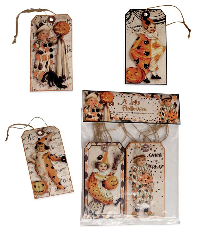 Vintage Halloween Children Tags by Bethany Lowe