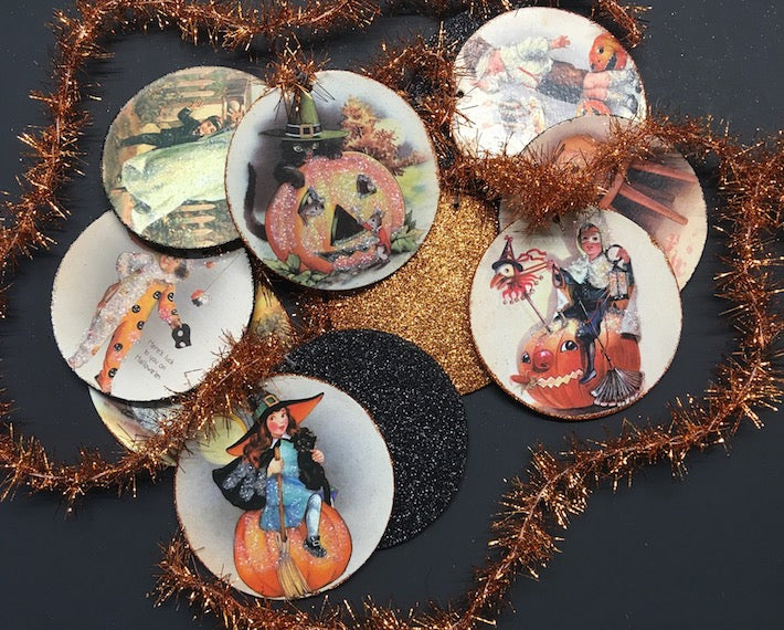 Vintage Halloween Disc Garland