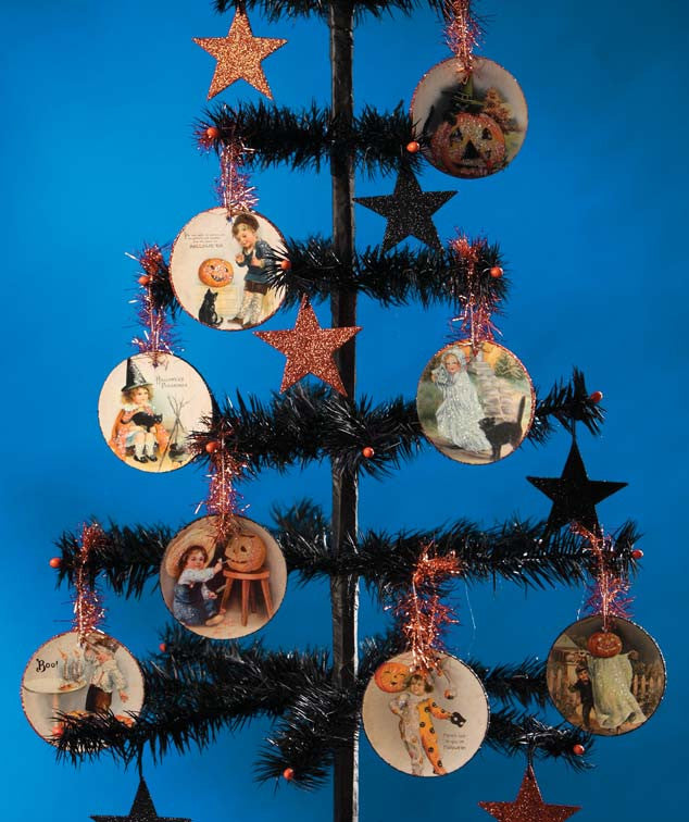 Vintage Halloween Disc Ornaments - Bethany Lowe
