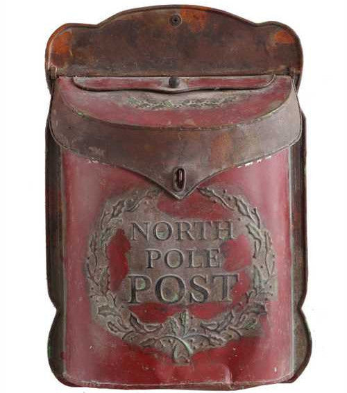Antique Furniture Supplies Mail: Santa's North Pole Mailbox For Letters