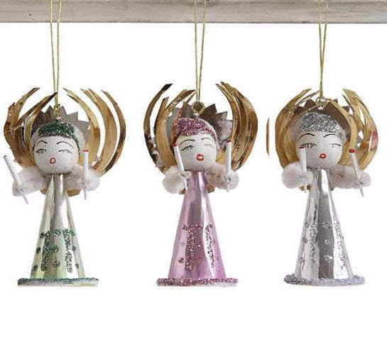 Vintage Reproduction Angel Ornaments - Retro Christmas