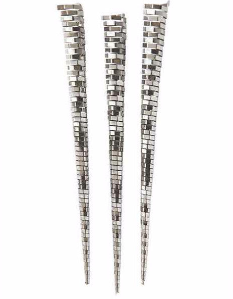 Vintage Reproduction Silver Sparkling Icicle Ornaments