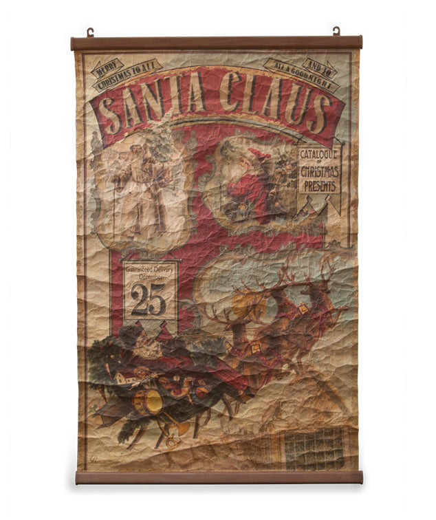 Vintage Santa Claus Scroll by Bethany Lowe
