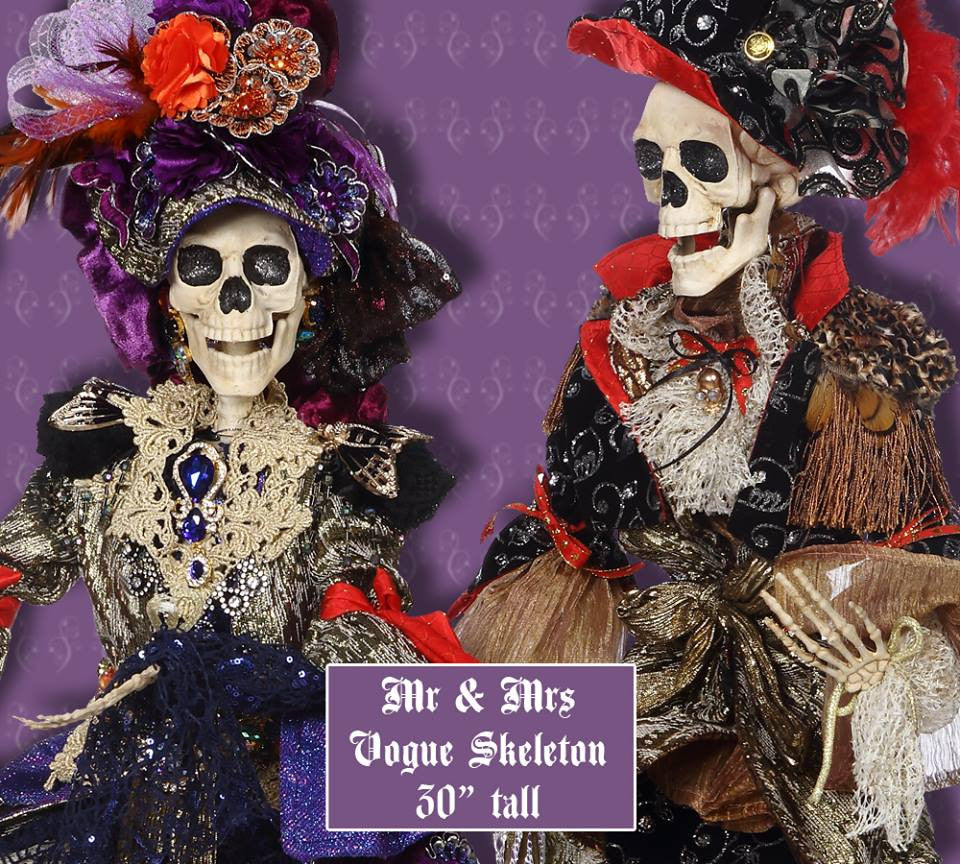Vogue Skeleton Couple - 30""