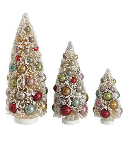 Sugar Cookie Bottle Brush Trees