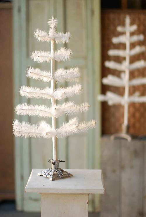 White Feather Tree 24""