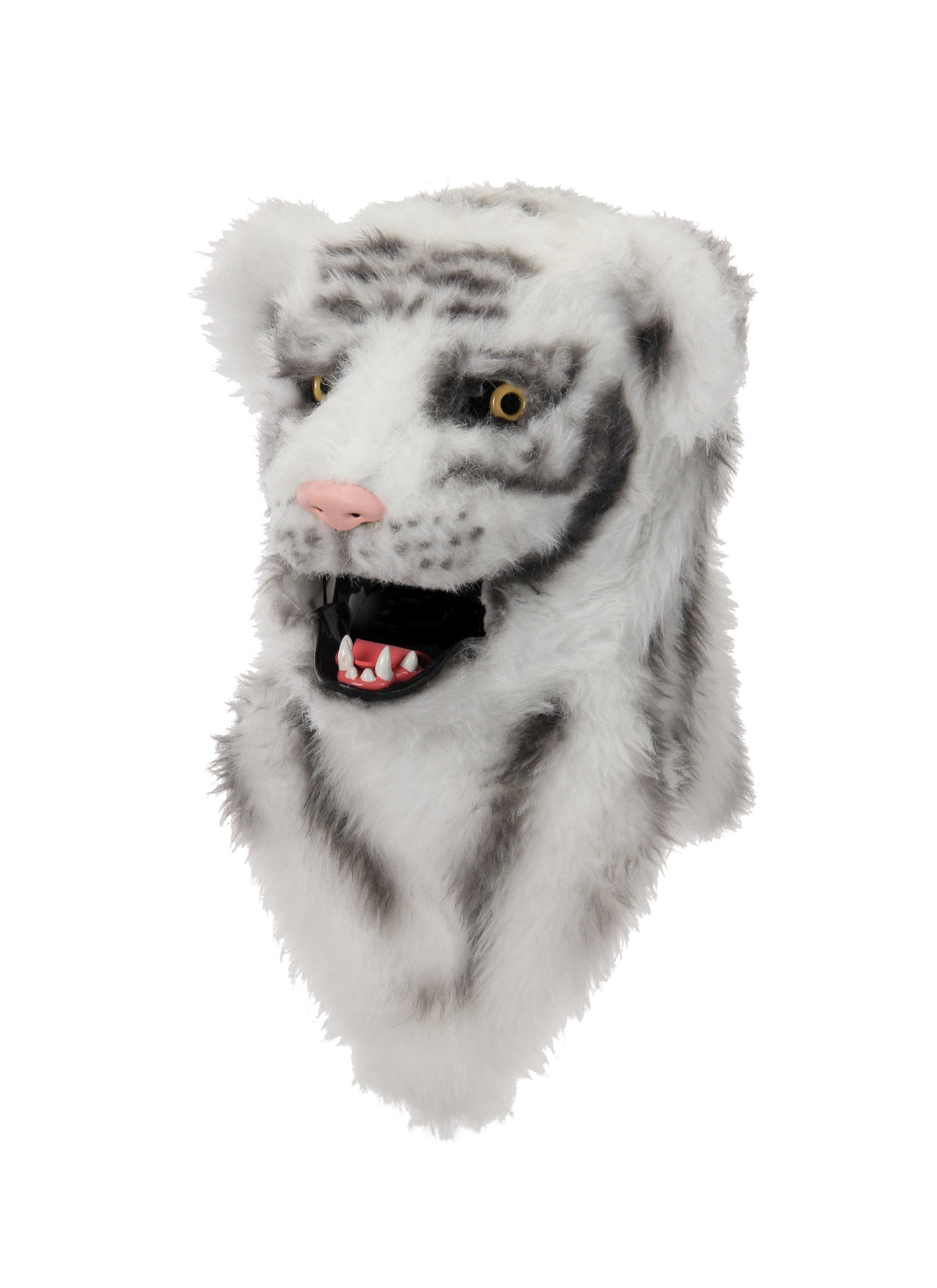 White Tiger Halloween Mask - Costume