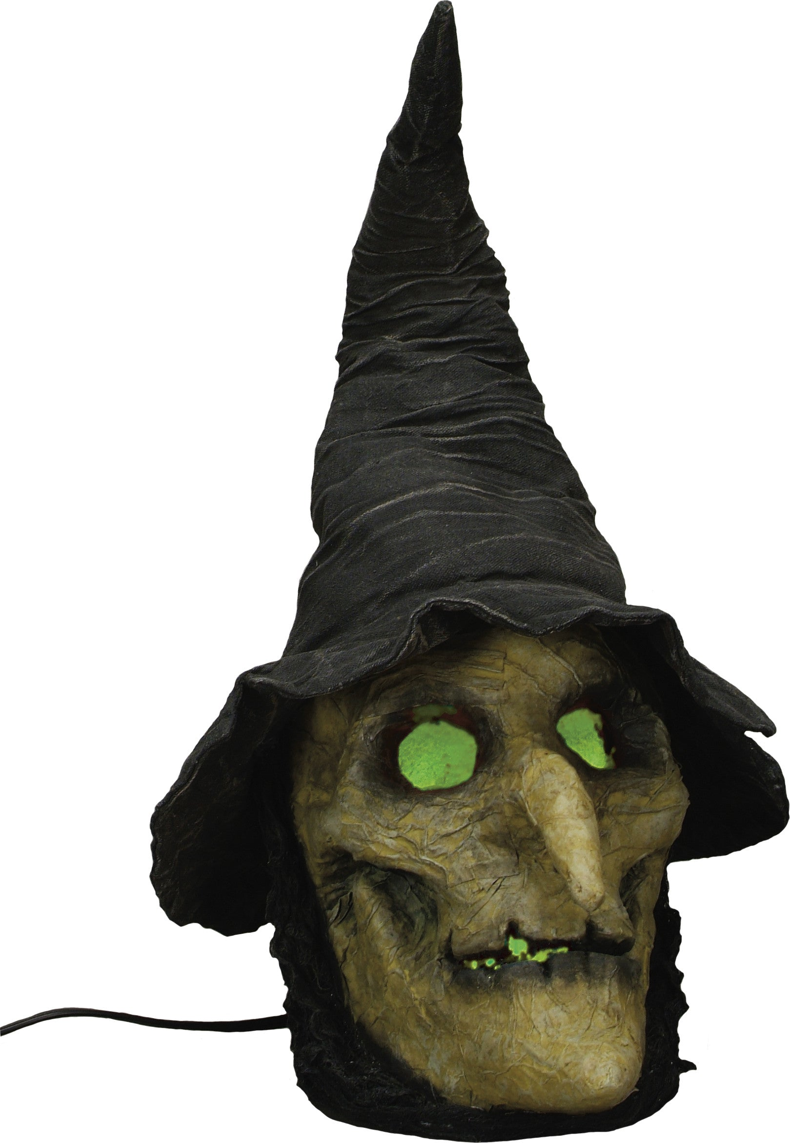 Paper Mache Wicked Witch Head Light