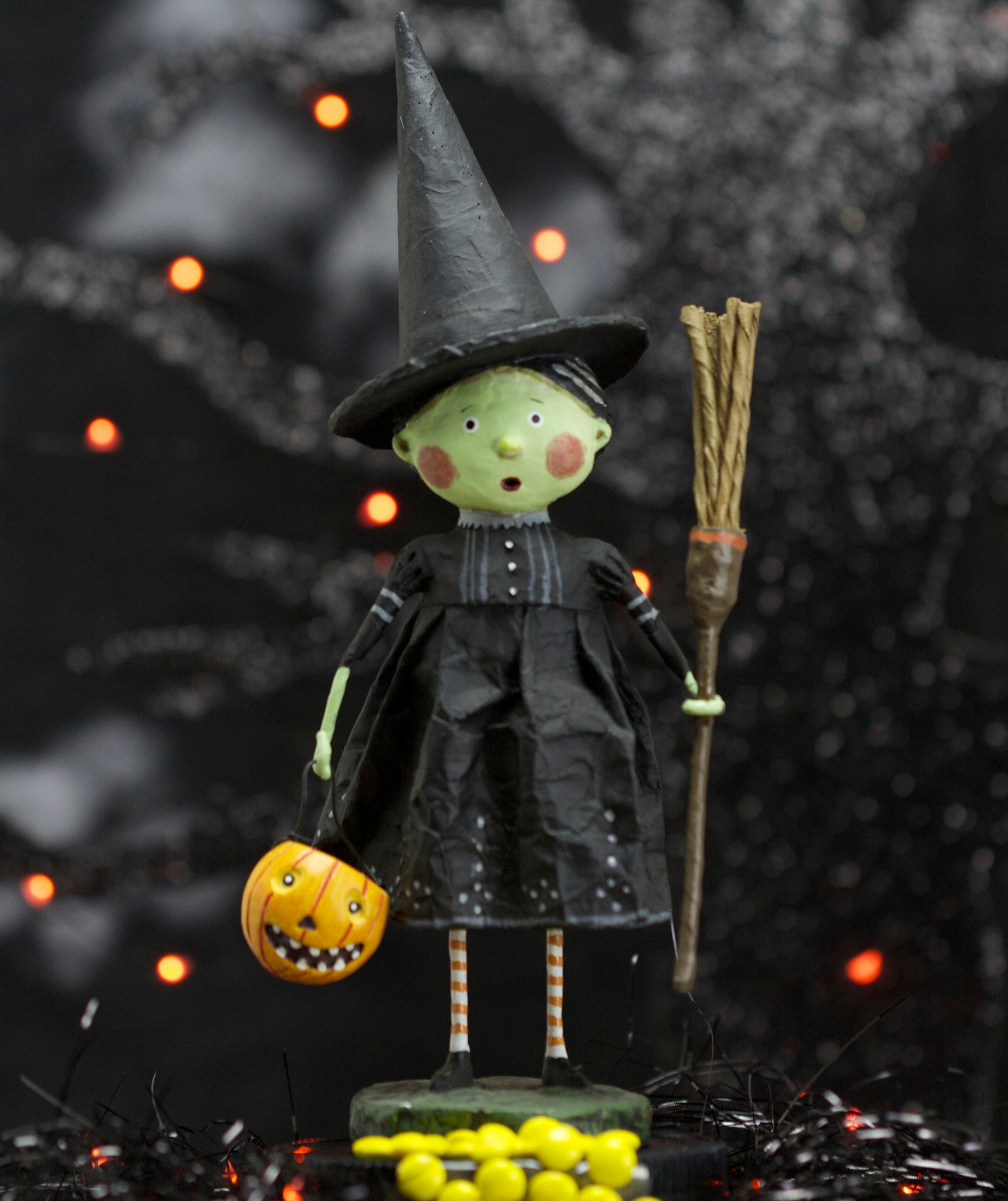 Lori Mitchell Wicked Witch Halloween Figurine - Wizard of Oz Collection