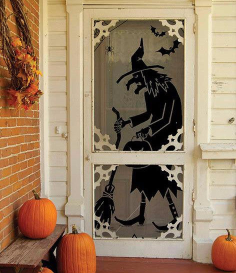 Wicked Witch Silhouette Door or Window Panel Hanging