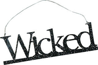 Wicked Black Glitter Ornament
