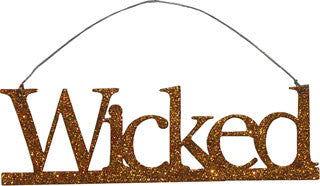 Wicked Orange Glitter Ornament