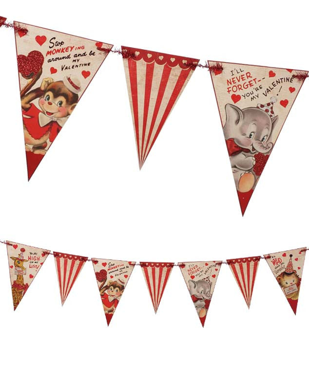 Wild About You Valentine Pennant Garland