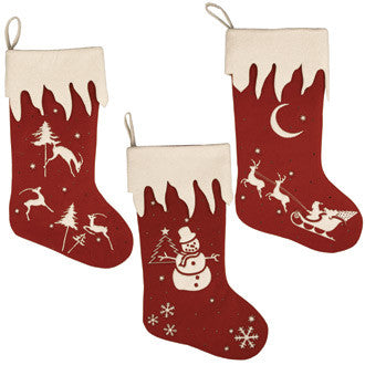 Winter's Eve Large Stocking Set