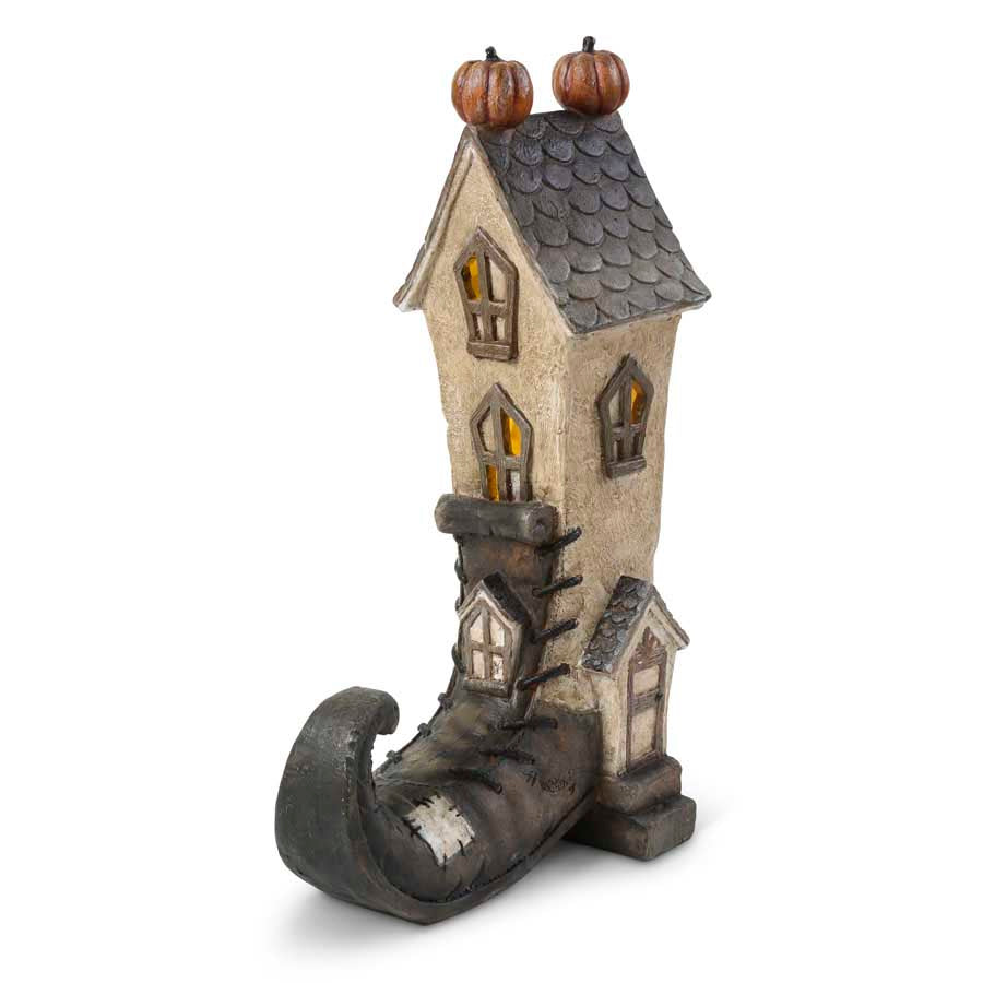 Witch Boot House with Led Light