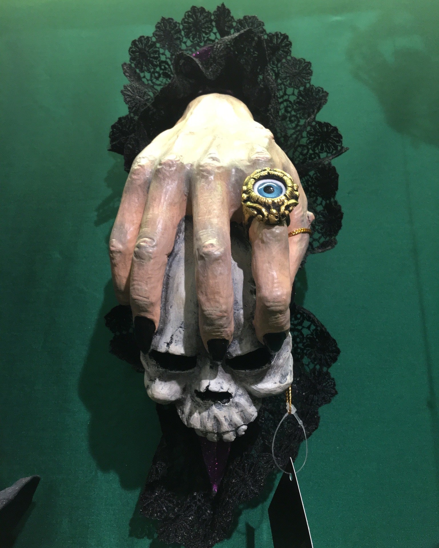 Witch Hand Skull Door Knocker - Halloween Prop